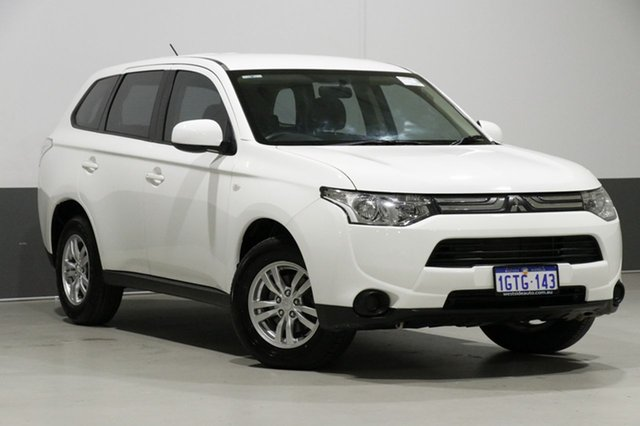 Used Mitsubishi Outlander ZJ ES (4x2), 2013 Mitsubishi Outlander ZJ ES (4x2) White Continuous Variable Wagon