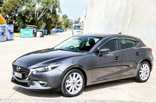 2018 Mazda 3 BN5438 SP25 SKYACTIV-Drive GT Machine Grey 6 Speed Sports Automatic Hatchback.