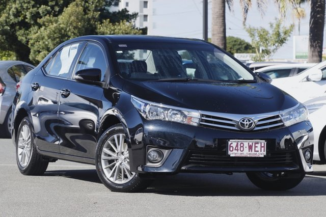 Used Toyota Corolla ZRE172R SX S-CVT, 2015 Toyota Corolla ZRE172R SX S-CVT Black/Grey 7 Speed Constant Variable Sedan