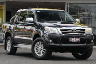 2014 Toyota Hilux KUN26R MY14 SR5 Double Cab Black 5 Speed Automatic Utility.
