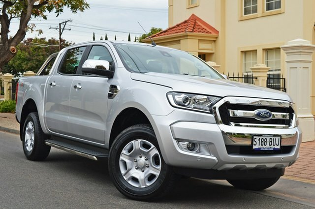 Used Ford Ranger PX MkII 2018.00MY XLT Double Cab, 2017 Ford Ranger PX MkII 2018.00MY XLT Double Cab Silver 6 Speed Sports Automatic Utility