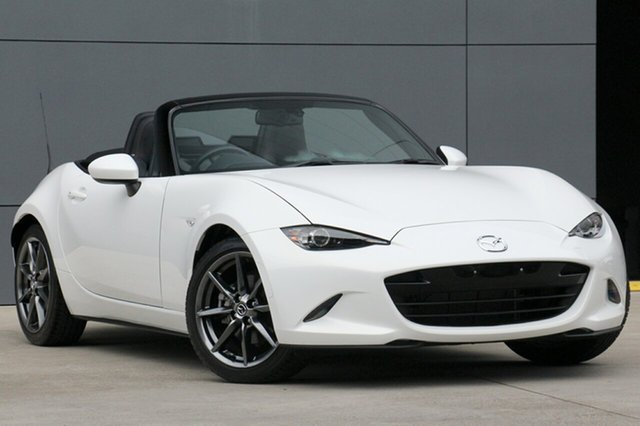 Used Mazda MX-5 ND GT SKYACTIV-Drive, 2017 Mazda MX-5 ND GT SKYACTIV-Drive White Pearl 6 Speed Sports Automatic Roadster