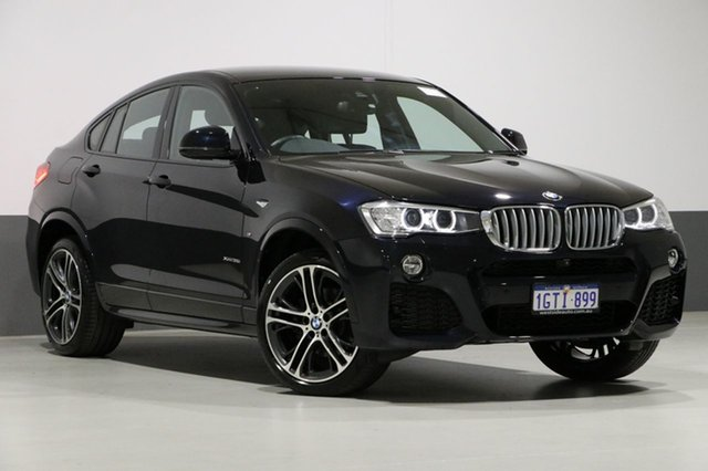 Used BMW X4 F26 MY16 xDrive 35I, 2017 BMW X4 F26 MY16 xDrive 35I Carbon Black 8 Speed Automatic Coupe