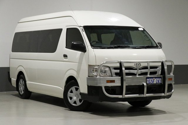Used Toyota HiAce KDH223R MY12 Upgrade Commuter, 2012 Toyota HiAce KDH223R MY12 Upgrade Commuter White 5 Speed Manual Bus