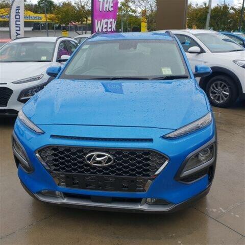 New Hyundai Kona OS MY18 Highlander 2WD, 2018 Hyundai Kona OS MY18 Highlander 2WD Blue Lagoon 6 Speed Sports Automatic Wagon