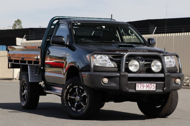 Used Toyota Hilux KUN26R MY07 SR, 2006 Toyota Hilux KUN26R MY07 SR Green 5 Speed Manual Cab Chassis