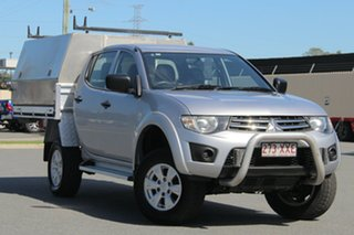2014 Mitsubishi Triton MN MY15 GLX Double Cab Silver 4 Speed Sports Automatic Utility.
