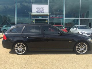 2012 BMW 320d E91 MY11 Lifestyle Touring Steptronic Black 6 Speed Sports Automatic Wagon.