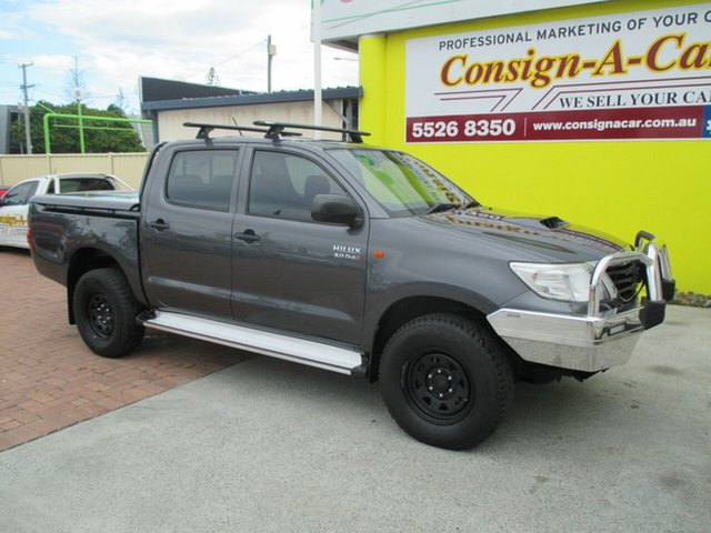 Used Toyota Hilux KUN26R MY14 SR Double Cab, 2014 Toyota Hilux KUN26R MY14 SR Double Cab Grey 5 Speed Automatic Cab Chassis