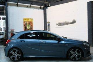 2013 Mercedes-Benz A250 W176 Sport D-CT Blue 7 Speed Sports Automatic Dual Clutch Hatchback.