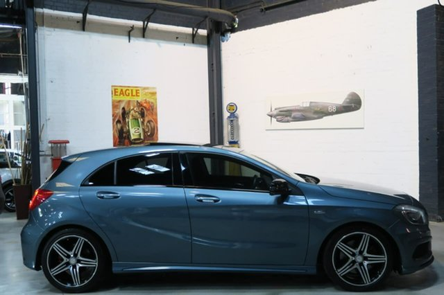Used Mercedes-Benz A250 W176 Sport D-CT, 2013 Mercedes-Benz A250 W176 Sport D-CT Blue 7 Speed Sports Automatic Dual Clutch Hatchback