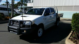 2014 Toyota Hilux KUN26R MY14 SR Double Cab Glacier 5 Speed Manual Cab Chassis.