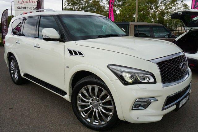 Used Infiniti QX80 Z62 S Premium, 2015 Infiniti QX80 Z62 S Premium White 7 Speed Sports Automatic Wagon