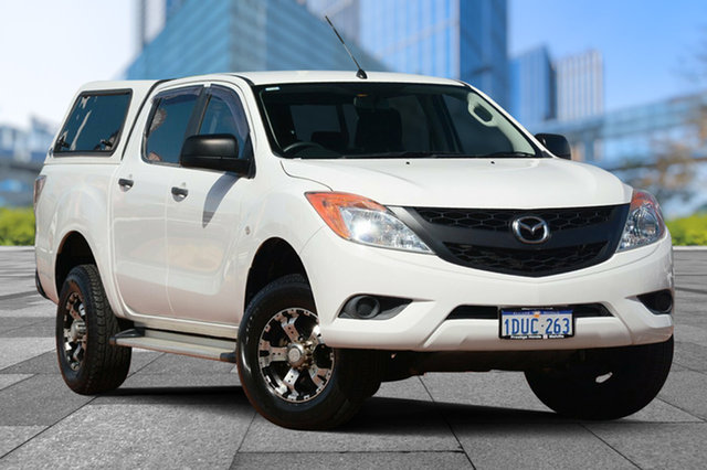 Used Mazda BT-50 UP0YF1 XT 4x2 Hi-Rider, 2011 Mazda BT-50 UP0YF1 XT 4x2 Hi-Rider White 6 Speed Sports Automatic Utility
