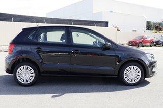 2016 Volkswagen Polo 6R MY16 66TSI Trendline Black 5 Speed Manual Hatchback.