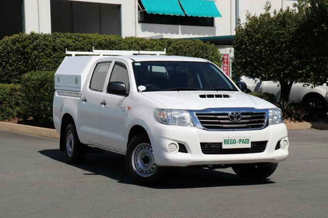 Used Toyota Hilux KUN16R MY14 SR Double Cab 4x2, 2014 Toyota Hilux KUN16R MY14 SR Double Cab 4x2 Glacier 5 Speed Manual Utility