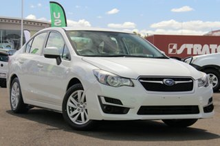 2016 Subaru Impreza G4 MY16 2.0i Lineartronic AWD White 6 Speed Constant Variable Sedan.
