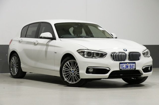 Used BMW 120i F20 LCI MY17 Urban Line, 2017 BMW 120i F20 LCI MY17 Urban Line White 8 Speed Automatic Hatchback