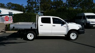 2014 Toyota Hilux KUN26R MY14 SR Double Cab Glacier 5 Speed Manual Cab Chassis