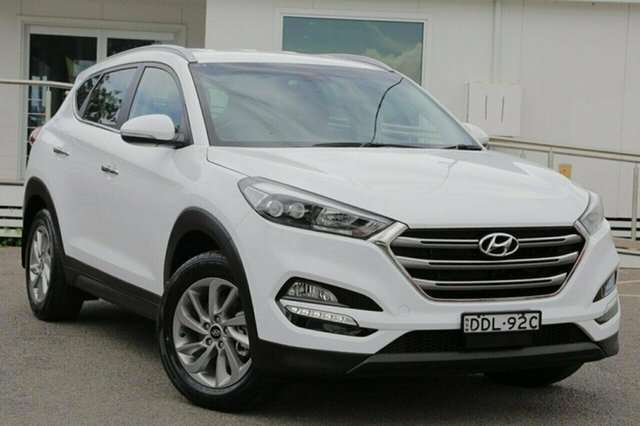 Used Hyundai Tucson TLE Elite D-CT AWD, 2016 Hyundai Tucson TLE Elite D-CT AWD White 7 Speed Sports Automatic Dual Clutch Wagon
