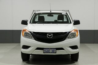 2012 Mazda BT-50 XT (4x2) White 6 Speed Manual Cab Chassis.