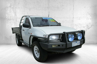 2007 Mitsubishi Triton ML MY07 GLX White 5 Speed Manual Cab Chassis.