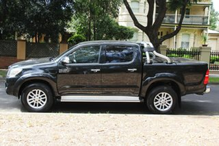 2012 Toyota Hilux KUN26R MY12 SR5 Double Cab Black 4 Speed Automatic Utility
