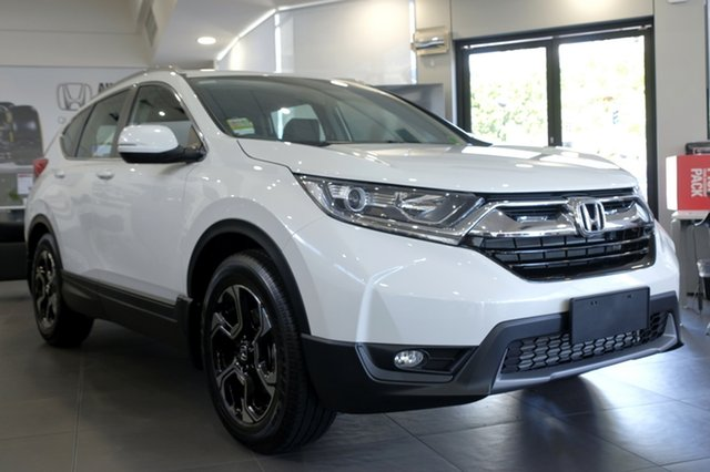 Demo Honda CR-V RW MY19 VTi-E FWD, 2018 Honda CR-V RW MY19 VTi-E FWD White Orchid 1 Speed Constant Variable Wagon