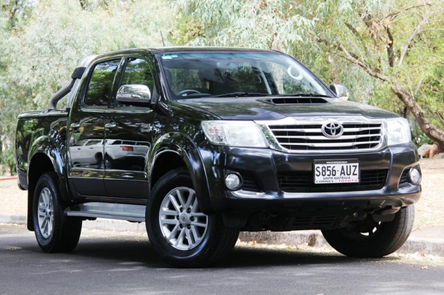Used Toyota Hilux KUN26R MY12 SR5 Double Cab, 2012 Toyota Hilux KUN26R MY12 SR5 Double Cab Black 4 Speed Automatic Utility