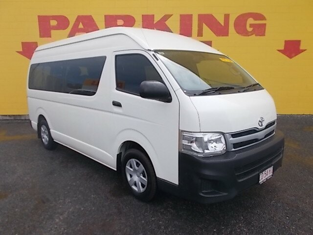 Used Toyota HiAce TRH223R MY12 Commuter High Roof Super LWB, 2013 Toyota HiAce TRH223R MY12 Commuter High Roof Super LWB White 5 Speed Manual Bus