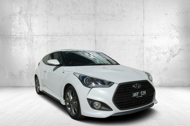 Used Hyundai Veloster FS4 Series II SR Coupe D-CT Turbo, 2016 Hyundai Veloster FS4 Series II SR Coupe D-CT Turbo White 7 Speed Sports Automatic Dual Clutch