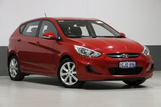 2017 Hyundai Accent RB5 Sport Red 6 Speed Automatic Hatchback.