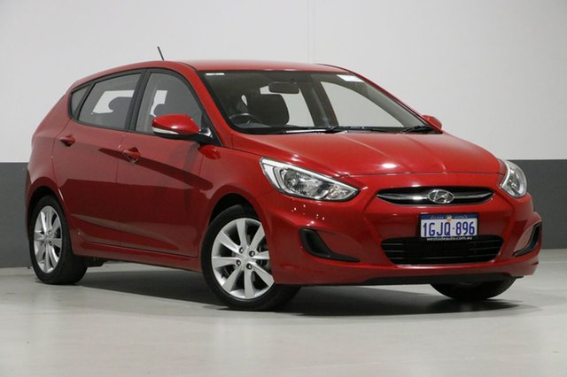 Used Hyundai Accent RB5 Sport, 2017 Hyundai Accent RB5 Sport Red 6 Speed Automatic Hatchback