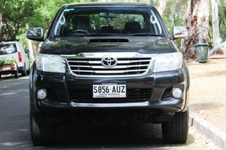 2012 Toyota Hilux KUN26R MY12 SR5 Double Cab Black 4 Speed Automatic Utility.
