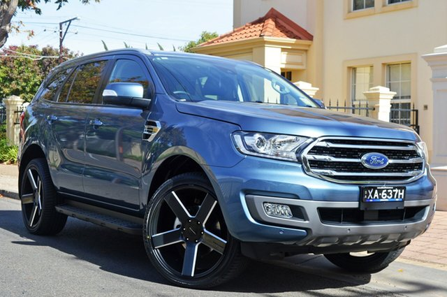 Used Ford Everest UA II 2019.00MY Trend 4WD, 2018 Ford Everest UA II 2019.00MY Trend 4WD Blue Reflex 10 Speed Sports Automatic Wagon