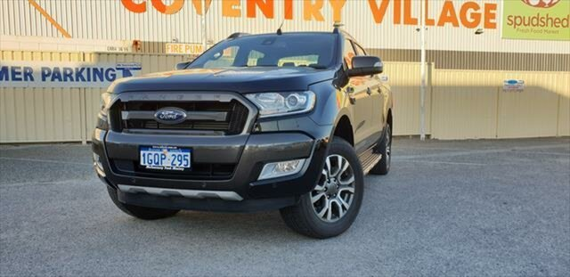 Demo Ford Ranger PX MkII 2018.00MY Wildtrak Double Cab, 2018 Ford Ranger PX MkII 2018.00MY Wildtrak Double Cab Shadow Black 6 Speed Sports Automatic Utility
