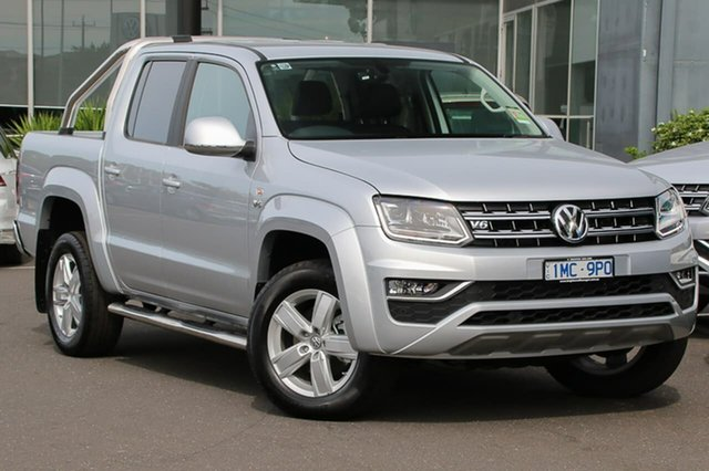 Demo Volkswagen Amarok 2H MY19 TDI550 4MOTION Perm Highline, 2018 Volkswagen Amarok 2H MY19 TDI550 4MOTION Perm Highline Silver 8 Speed Automatic Utility