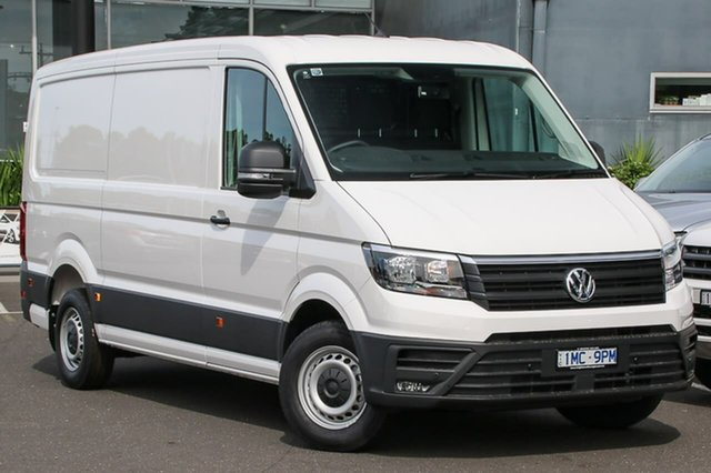 Demo Volkswagen Crafter SY1 MY19 35 MWB TDI410, 2018 Volkswagen Crafter SY1 MY19 35 MWB TDI410 White 8 Speed Automatic Van