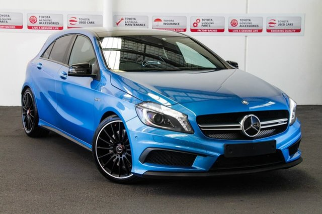 Used Mercedes-Benz A45 176 MY15 AMG, 2015 Mercedes-Benz A45 176 MY15 AMG Blue 7 Speed Auto Dual Clutch Hatchback