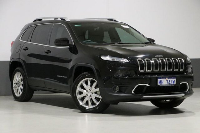 Used Jeep Cherokee KL MY15 Limited (4x4), 2014 Jeep Cherokee KL MY15 Limited (4x4) Black 9 Speed Automatic Wagon