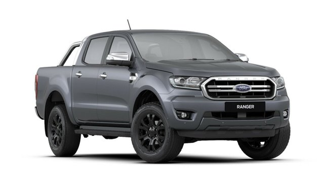 New Ford Ranger PX MkIII 2019.00MY XLT Pick-up Double Cab, 2019 Ford Ranger PX MkIII 2019.00MY XLT Pick-up Double Cab Meteor Grey 6 Speed Sports Automatic