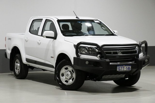Used Holden Colorado RG MY18 LS (4x4), 2018 Holden Colorado RG MY18 LS (4x4) White 6 Speed Automatic Crew Cab Pickup