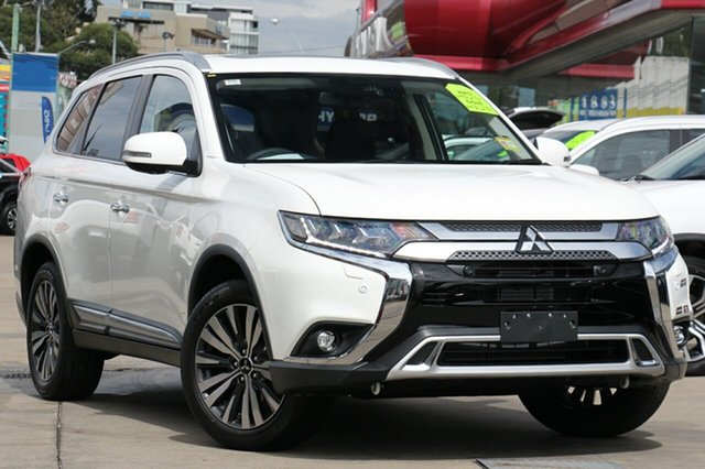 New Mitsubishi Outlander ZL MY19 Exceed AWD, 2019 Mitsubishi Outlander ZL MY19 Exceed AWD White 6 Speed Constant Variable Wagon