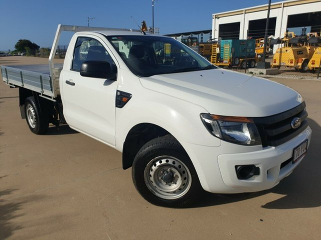 Used Ford Ranger PX XL 4x2, 2013 Ford Ranger PX XL 4x2 White 5 Speed Manual Cab Chassis