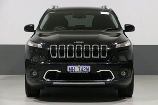 2014 Jeep Cherokee KL MY15 Limited (4x4) Black 9 Speed Automatic Wagon.