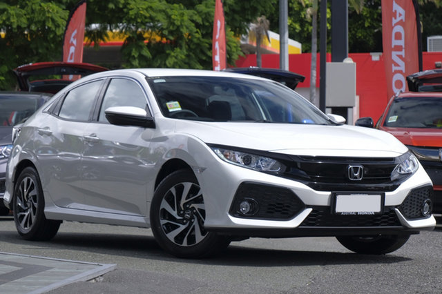Demo Honda Civic 10th Gen MY18 VTi-S, 2018 Honda Civic 10th Gen MY18 VTi-S White Orchid 1 Speed Constant Variable Hatchback