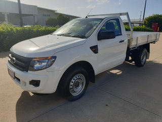 2013 Ford Ranger PX XL 4x2 White 5 Speed Manual Cab Chassis