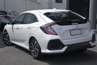 2018 Honda Civic 10th Gen MY18 VTi-S White Orchid 1 Speed Constant Variable Hatchback.