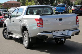 2018 Mitsubishi Triton MQ MY18 GLX+ Double Cab Silver 5 Speed Sports Automatic Utility.