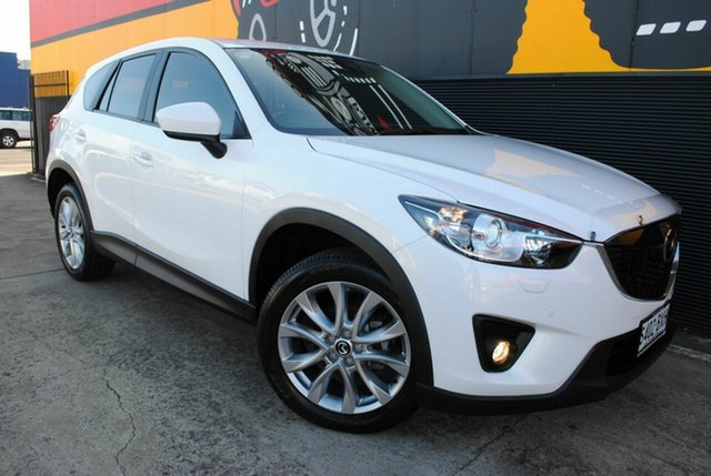 Used Mazda CX-5 KE1032 Akera SKYACTIV-Drive AWD, 2014 Mazda CX-5 KE1032 Akera SKYACTIV-Drive AWD Crystal White Pearl 6 Speed Sports Automatic Wagon